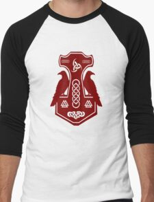 Dark Red Thor's Hammer Men's Baseball ¾ T-Shirt