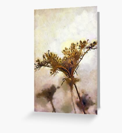 Dried flower art Greeting Card