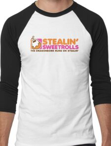 Stealin' Sweetrolls Men's Baseball ¾ T-Shirt