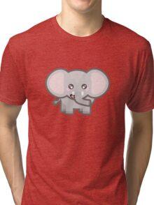 Kawaii Elephant Tri-blend T-Shirt