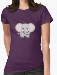Kawaii Elephant Womens Fitted T-Shirt