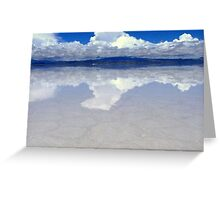 Cloud Reflections in Salar de Uyuni, Bolivia Greeting Card