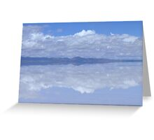 Cloud Reflections in Heavenly Salar de Uyuni, Bolivia Greeting Card