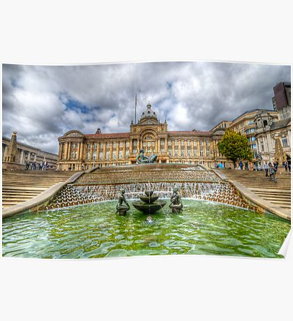 Council House & Victoria Square - Birmingham Poster