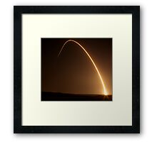 Delta II Rocket w/NPP Satellite Framed Print