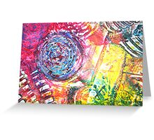 Colorful Gesso 4 Greeting Card