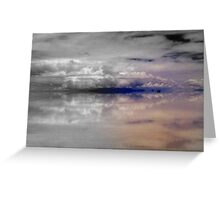 Heavenly bodies floating in the distance, Salar de Uyuni, Bolivia Greeting Card