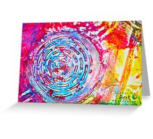 Colorful Gesso 5 Greeting Card