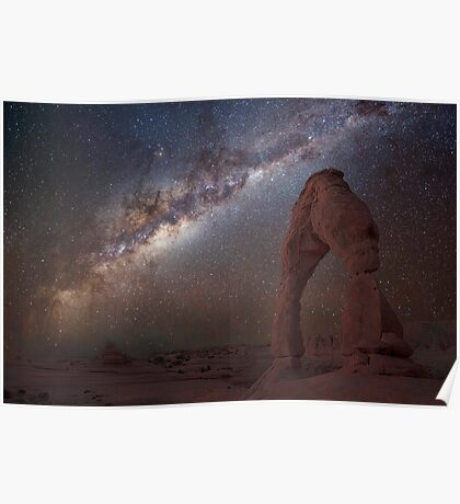 The night sky at Delicate Arch Poster