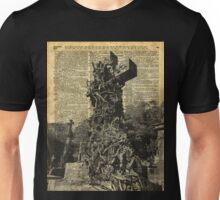 Victorian Gothic Graves,Tombstones,Cemetery Halloween Dictionary Art Unisex T-Shirt