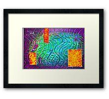 Gesso Printmaking Framed Print