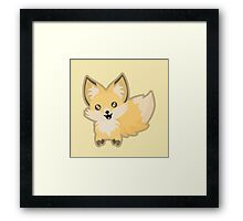 Kawaii Fox Framed Print