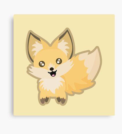 Kawaii Fox Canvas Print