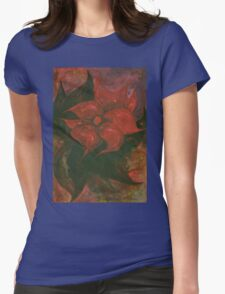 Flower 6 Womens Fitted T-Shirt