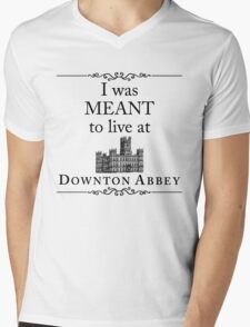 I was MEANT to live at Downton Abbey Mens V-Neck T-Shirt