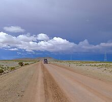 Long road on the Bolivian altiplano by Camila Gelber