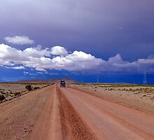 Road to nowhere on the Bolivian altiplano by Camila Gelber