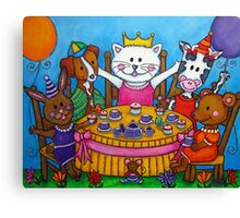 The Little Tea Party Canvas Print