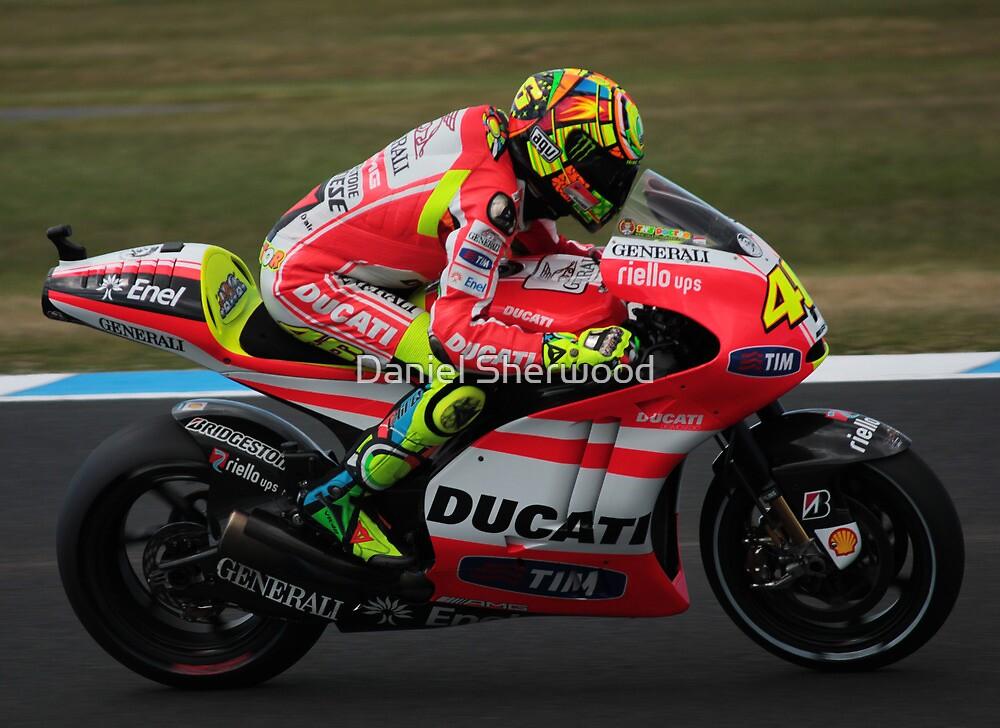 Valentino Rossi #46 by Daniel Sherwood