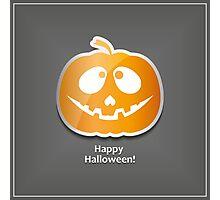 Face pumpkin Photographic Print
