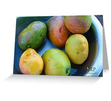 Ripe Mangos Greeting Card