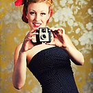1940&#x27;s woman using a camera by Sharonroseart