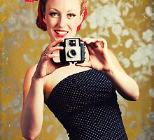 1940's woman using a camera by Sharonroseart