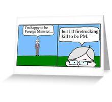 Kevin Rudd leadership challenge. Greeting Card