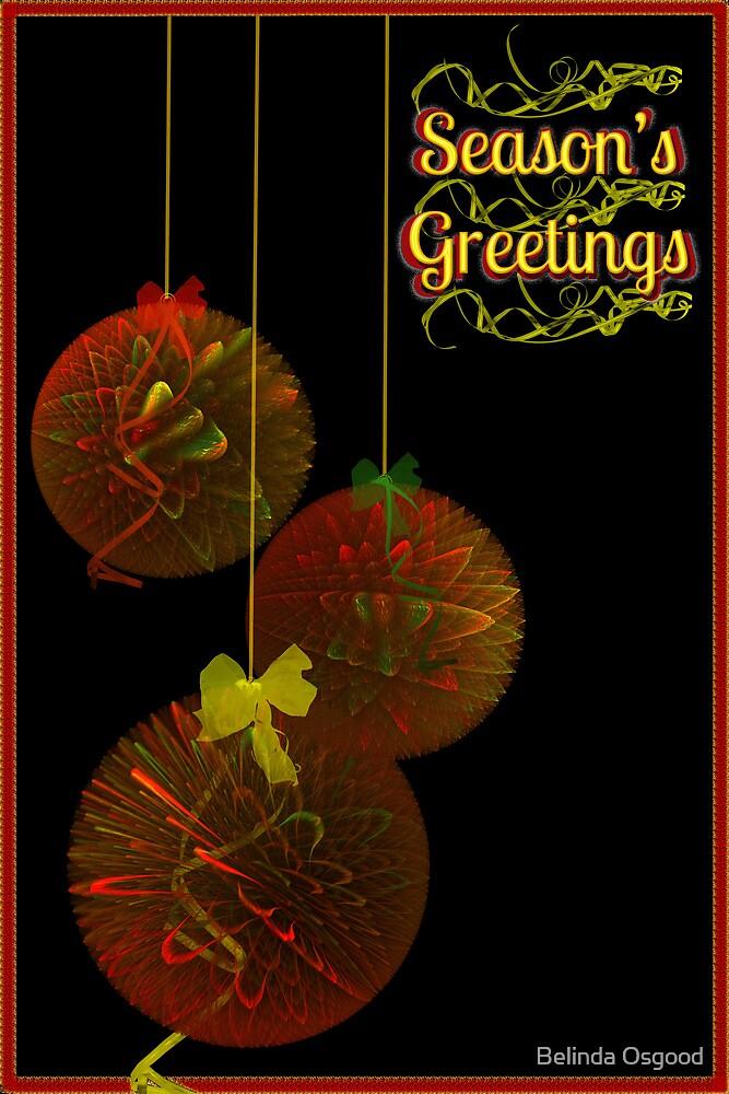 Christmas Tinsel Balls Card by Belinda Osgood