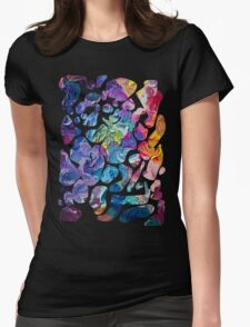 Abstract paint colour Womens Fitted T-Shirt