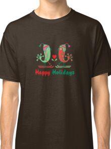 Ski Birds Happy Holidays Classic T-Shirt