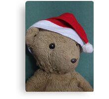Scruffles with Christmas Hat Canvas Print
