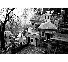 Traditional village at Pelion mountain Photographic Print
