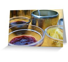 Condiments Greeting Card