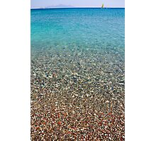 Crystal clear blue sea Photographic Print