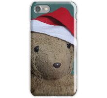 Scruffles with Christmas Hat iPhone Case/Skin