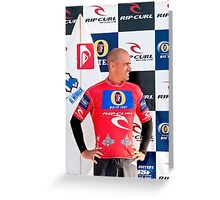Kelly Slater at  Rip Curl Pro Pipe Masters 06 Greeting Card