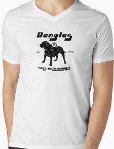 Dangles - Dogs With Handles Mens V-Neck T-Shirt