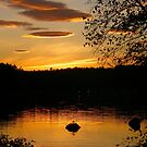 Sunset Over the Pennesseewassee by Judith Hayes
