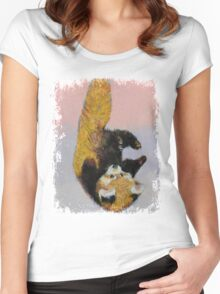 Red Panda Cub Women's Fitted Scoop T-Shirt