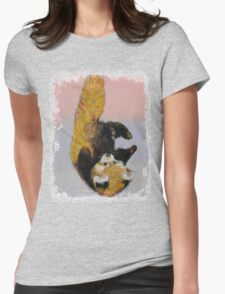 Red Panda Cub Womens Fitted T-Shirt
