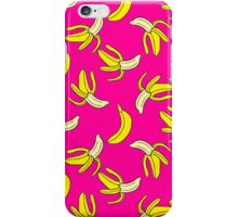 Colorful seamless pattern of bananas in pop art style iPhone Case/Skin