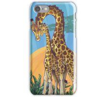 Giraffe Mama and Baby iPhone Case/Skin