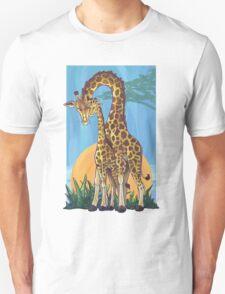 Giraffe Mama and Baby T-Shirt