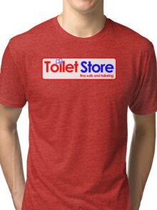 Toilet Store: Fine Suits and Tailoring Tri-blend T-Shirt