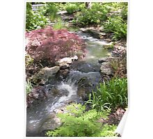 Bubbling Brook in the Garden Poster