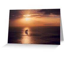 Sunset Cruiser Greeting Card