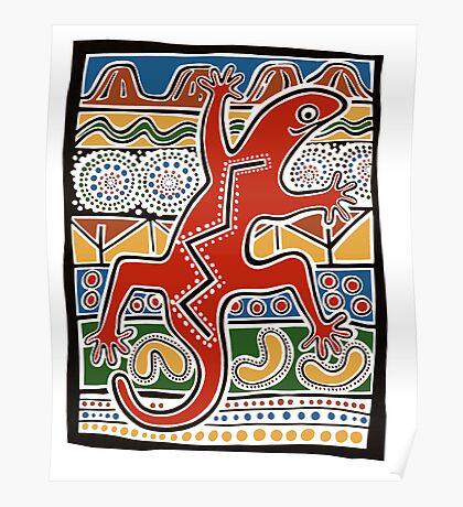 lizard design Poster
