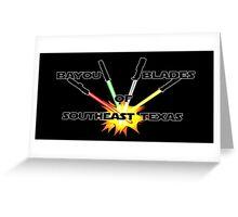 """Bayou Blades"" Logo Greeting Card"