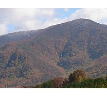 Colors With Snow On The Mountain Tops Photographic Print